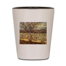 Van Gogh Apricot Trees In Blossom Shot Glass