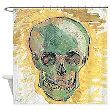 Vincent Van Gogh Skull Shower Curtain