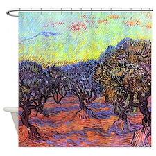 Van Gogh Olive Trees Shower Curtain