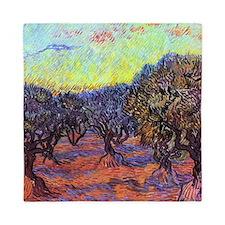 Van Gogh Olive Trees Queen Duvet