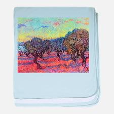 Van Gogh Olive Trees baby blanket