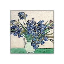 "Van Gogh Irises Square Sticker 3"" x 3"""