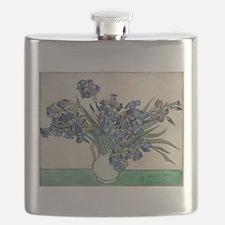 Van Gogh Irises Flask