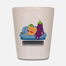 Emoji Peach Eggplant Cuddle Shot Glass