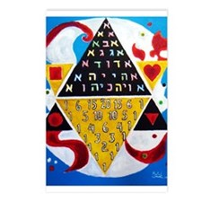 Cabalistic Message in Pascals Triangle Postcards (