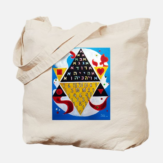 Cabalistic Message in Pascals Triangle Tote Bag