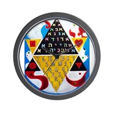Cabalistic Message in Pascals Triangle Wall Clock