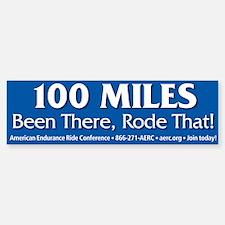 Bumper Sticker - 100 Miles