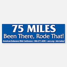 Bumper Sticker - 75 Miles