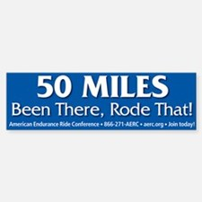 Bumper Sticker - 50 Miles