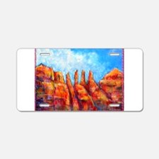 Desert, Southwest , colorful,art! Aluminum License