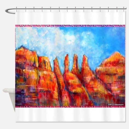 Desert, Southwest , colorful,art! Shower Curtain