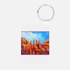 Desert, Southwest , colorful,art! Keychains
