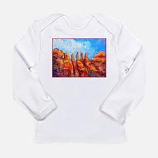 Desert, Southwest , colorful,art! Long Sleeve Infa