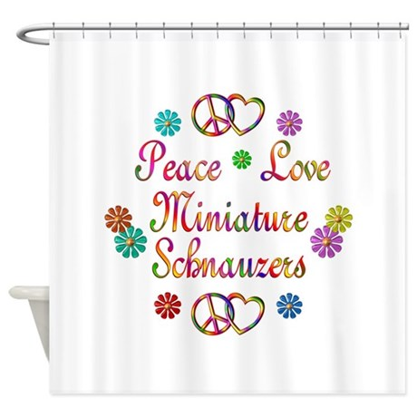 Miniature Schnauzers Shower Curtain