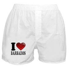 I Heart Barbados Boxer Shorts