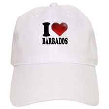 I Heart Barbados Baseball Cap