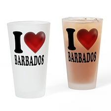 I Heart Barbados Drinking Glass