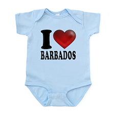 I Heart Barbados Infant Bodysuit