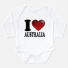 I Heart Australia Long Sleeve Infant Bodysuit