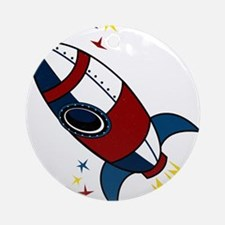 Rocket Ornament (Round)