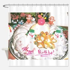 Happy Birthday, I Baked This. Shower Curtain