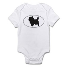 Cairn Terrier Silhouette Infant Creeper