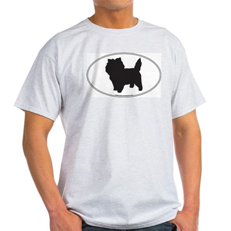 Cairn Terrier Silhouette Ash Grey T-Shirt