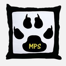 MPS Paw Throw Pillow