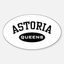 Astoria Queens Oval Decal