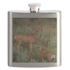 Mule deer velvet Flask