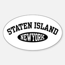 Staten Island New York Oval Decal