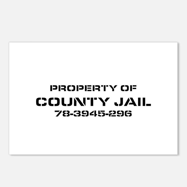 Property Of County Jail Postcards (Package of 8)