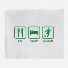 Eat Sleep Soccer Throw Blanket