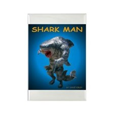Chace Lobleys Shark man. Rectangle Magnet (10 pack
