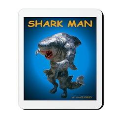Chace Lobleys Shark man. Mousepad