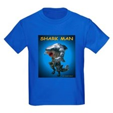 Chace Lobleys Shark man. Kids Dark T-Shirt