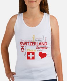 I Love Switzerland Tank Top