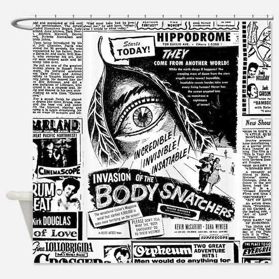 Movie Ad Body Snatchers Shower Curtain