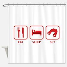 Eat Sleep Spy Shower Curtain