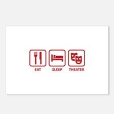 Eat Sleep Theater Postcards (Package of 8)
