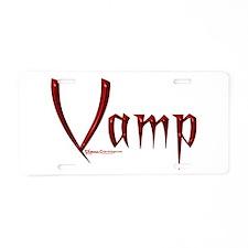 Vamp Aluminum License Plate