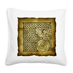 Celtic Letter F Square Canvas Pillow