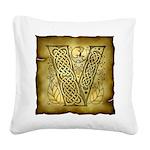 Celtic letter V Square Canvas Pillow