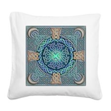 Celtic Eye of the World Square Canvas Pillow