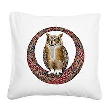 Celtic Owl Square Canvas Pillow