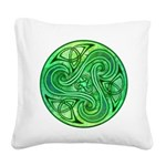 Celtic Triskele Square Canvas Pillow