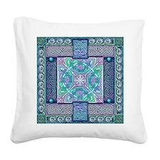 Celtic Atlantis Opal Square Canvas Pillow