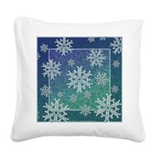 Celtic Snowflakes Square Canvas Pillow