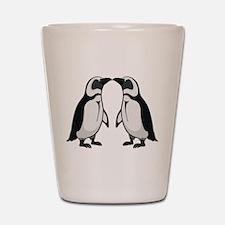 Penguin Kiss Shot Glass